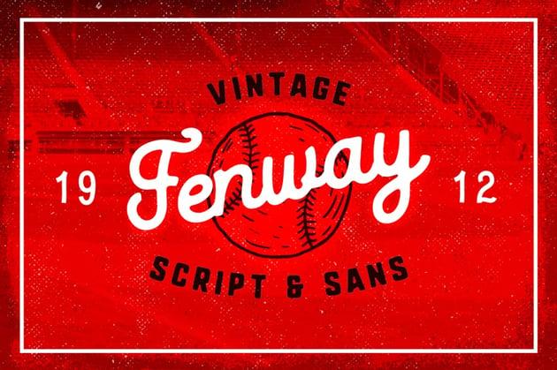 Fenway Baseball Font