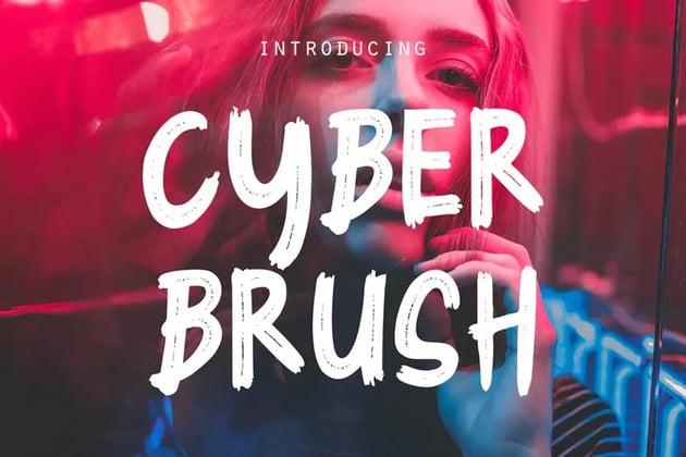 Cyber Brush - Dry Brush Font Download