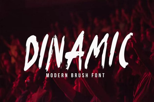 Dinamic Blow Paint Brush Type Font