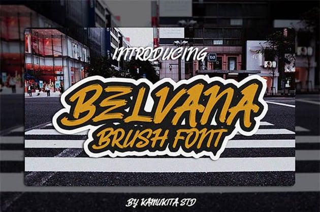 Belvana Brush Style Font