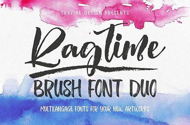 Ragtime - Trendy Brush Calligraphy Font