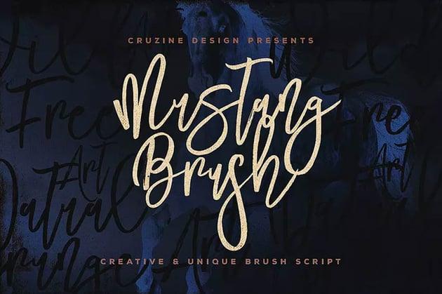 Mustang Cursive Brush Font