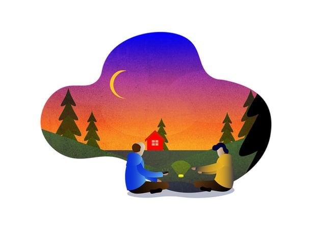 Customer journey illustrations