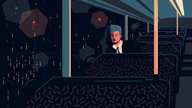 Empty Train Digital Art Illustration