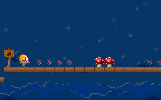 Hopping bird game screenshot
