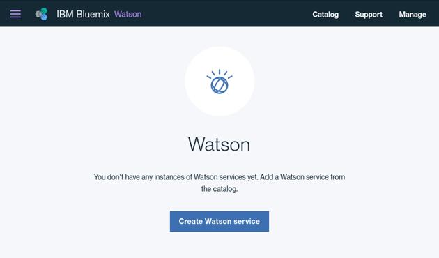 Watson home screen