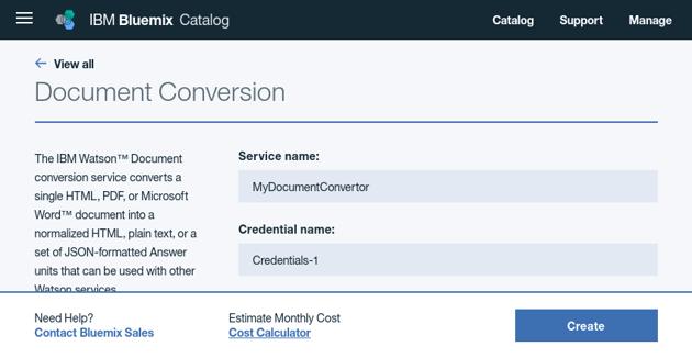 Configure Document Conversion service