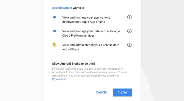 Android Studio requesting permissions