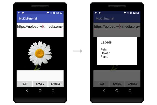 App generating labels