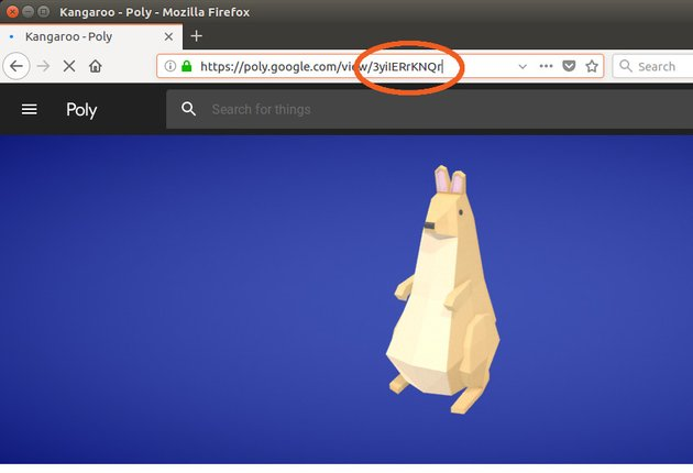 Poly asset ID shown in the address bar