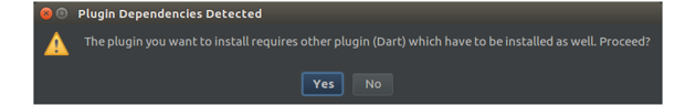 Plugin dependencies dialog