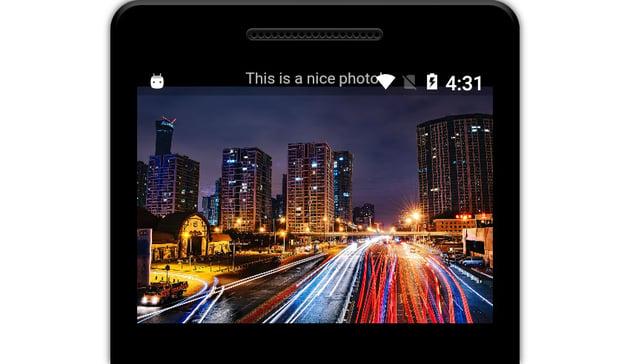 App showing two widgets