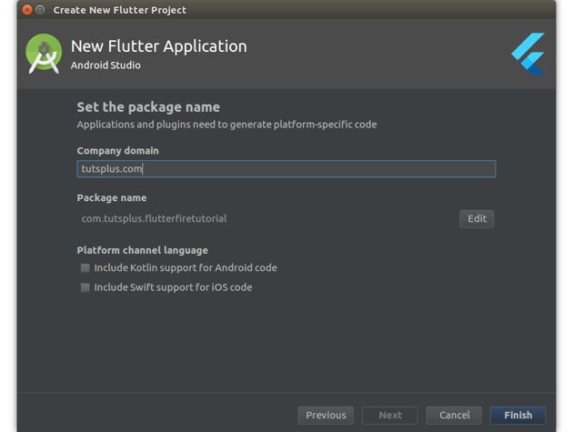 Flutter application details