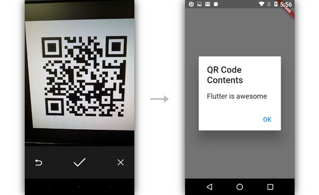 Successfully scanning a QR code