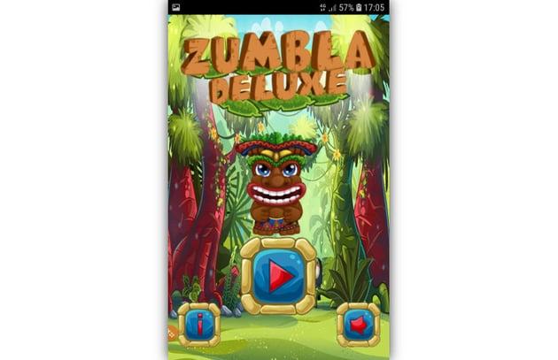 Zumbla Deluxe home screen