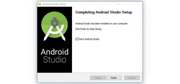 Installation complete dialog