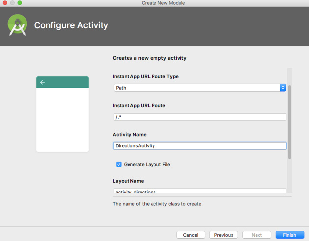 Create a second feature module using Android Studios built-in module creation wizard