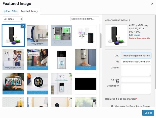 You can add Alt text to any image you upload to WordPress