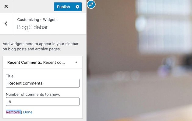 Not a fan of a particular widget You can remove any widget from your websites sidebar