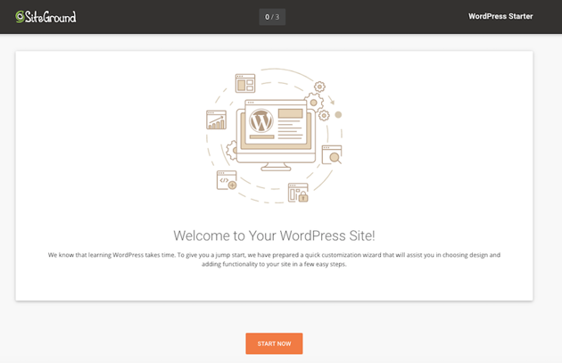 SiteGround will now guide you through the final bit of setup
