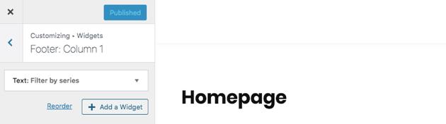 select Add a widget