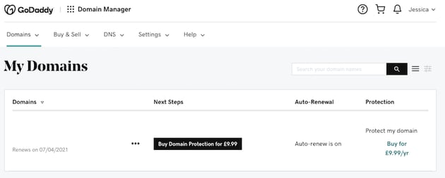 You can change GoDaddys domain name servers via the Domain Control Center