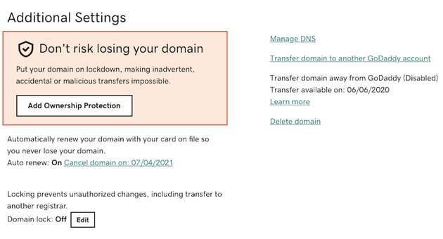 Choose Manage DNS