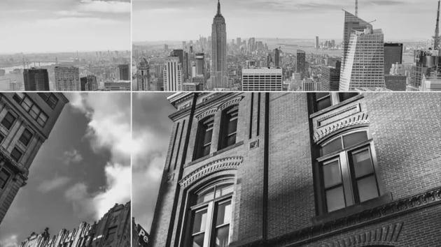 Photo frames slideshow animation photograph depicting New York City