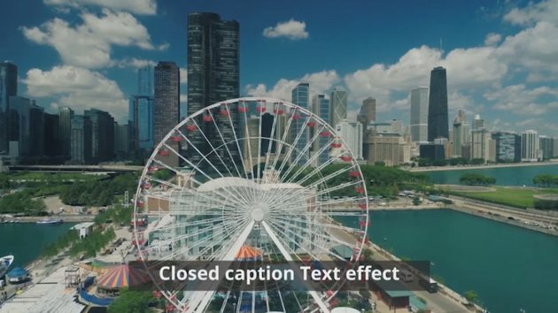 Chicago ferris wheel with closed caption example