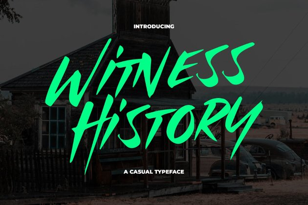 Witness history typeface example