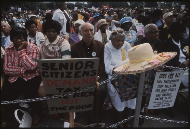 Senior citizens protest in Chicago