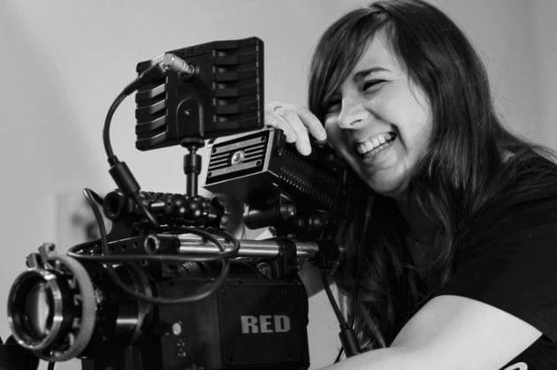 Laughing camera operator