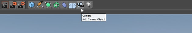 Camera button in Cinema 4D