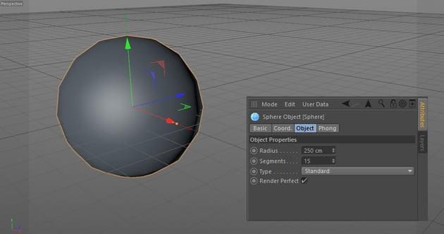 Cinema 4D sphere properties