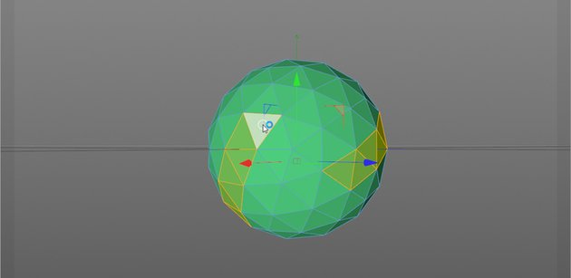 Image showing how to remove polygons in Cinema 4D