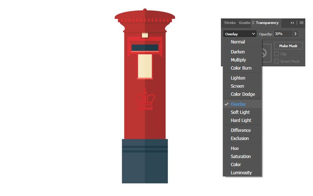 Making an overlay layer out of the half pink post box