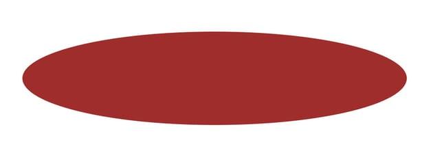 A red circular shape