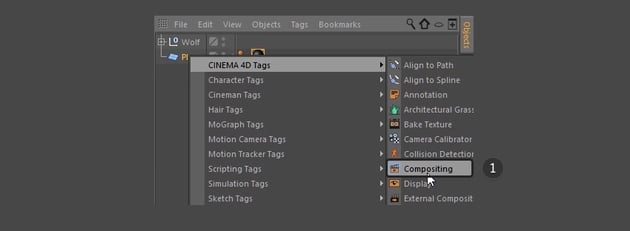 Selecting Compositing from the dropdown menu