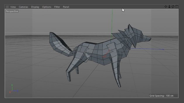 Created front legs of the Wolf