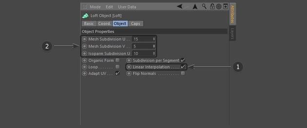 Editing the Loft properties