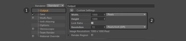 Changing the settings in output