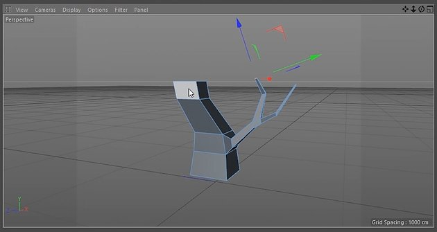 Extruding and shaping the branch