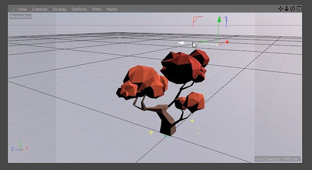 Using the Move Tool to position the Light Object
