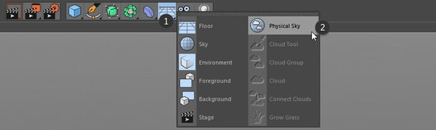Selecting the Physical Sky button