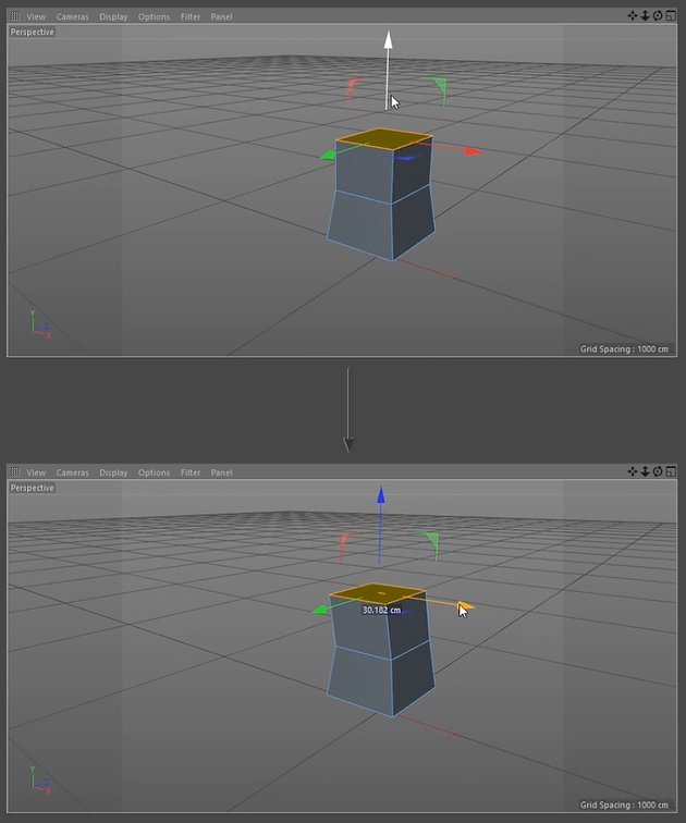 Extruding polygons from the base