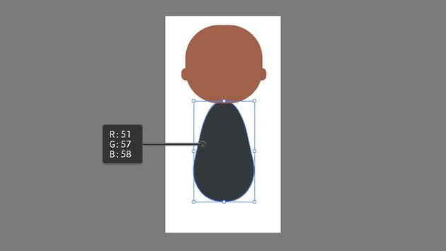 Using the Pen Tool to create the shape of the body