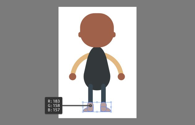 Creating the feet using the Rounded Rectangle Tool and Pen Tool