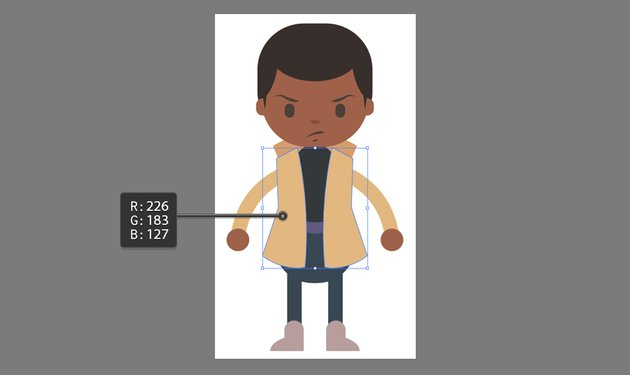Creating the jacket using the Pen Tool