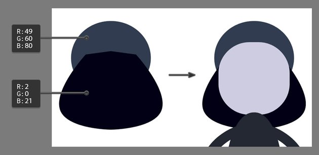 Creating the back of the hood using the Pen Tool