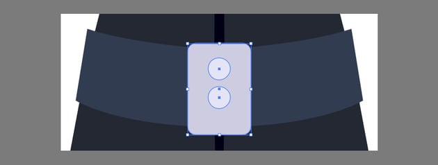 Creating the belt buckle using the Shapes Tool